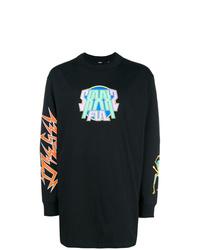 schwarzes bedrucktes Sweatshirt von Diesel