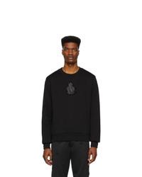 schwarzes bedrucktes Sweatshirt von Dolce and Gabbana