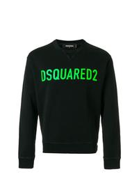 schwarzes bedrucktes Sweatshirt von DSQUARED2