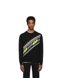 schwarzes bedrucktes Sweatshirt von Fendi