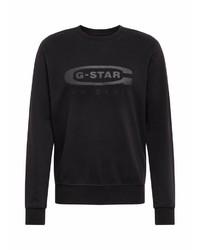 schwarzes bedrucktes Sweatshirt von G-Star RAW