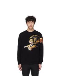 schwarzes bedrucktes Sweatshirt von Givenchy