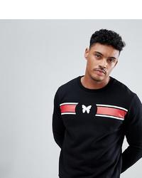 schwarzes bedrucktes Sweatshirt von Good For Nothing