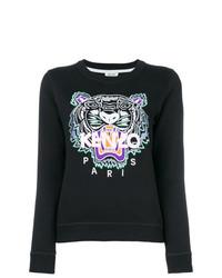 schwarzes bedrucktes Sweatshirt von Kenzo