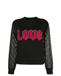 schwarzes bedrucktes Sweatshirt von Love Moschino