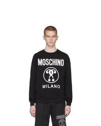 schwarzes bedrucktes Sweatshirt von Moschino
