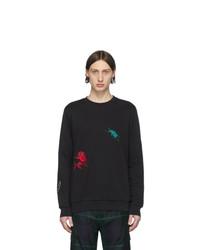 schwarzes bedrucktes Sweatshirt von Paul Smith