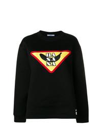 schwarzes bedrucktes Sweatshirt von Prada