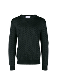 schwarzes bedrucktes Sweatshirt von Salvatore Ferragamo