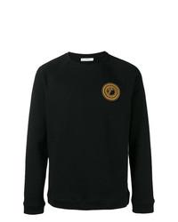 schwarzes bedrucktes Sweatshirt von Versace Collection