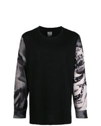 schwarzes bedrucktes Sweatshirt von Yohji Yamamoto