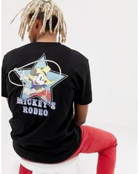 schwarzes bedrucktes T-Shirt mit einem Rundhalsausschnitt von ASOS DESIGN
