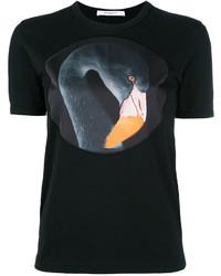 schwarzes bedrucktes T-Shirt mit einem Rundhalsausschnitt von Givenchy