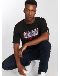 schwarzes bedrucktes T-Shirt mit einem Rundhalsausschnitt von Dangerous