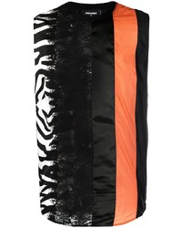 schwarzes bedrucktes Trägershirt von DSQUARED2
