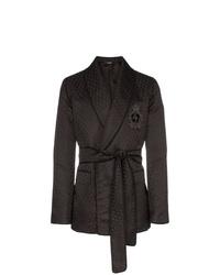 schwarzes bedrucktes Zweireiher-Sakko von Dolce & Gabbana