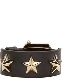 schwarzes beschlagenes Lederarmband von Givenchy