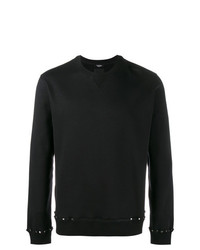 schwarzes beschlagenes Sweatshirt von Valentino