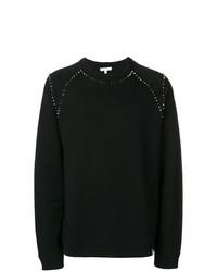 schwarzes beschlagenes Sweatshirt von Versace Collection