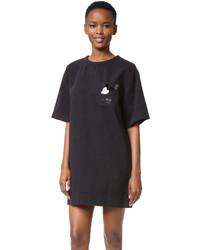 schwarzes besticktes Freizeitkleid von Marc Jacobs