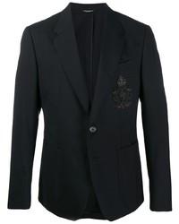 schwarzes besticktes Sakko von Dolce & Gabbana