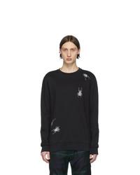 schwarzes besticktes Sweatshirt von Paul Smith