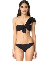 schwarzes Bikinioberteil von Marysia Swim