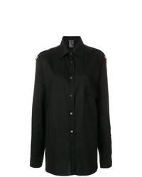 schwarzes Businesshemd von Ann Demeulemeester