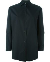 schwarzes Businesshemd von MM6 MAISON MARGIELA