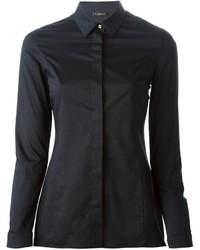 schwarzes Businesshemd von Versace