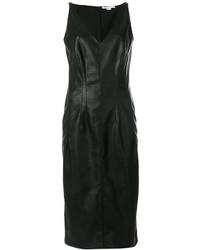 schwarzes Camisole-Kleid aus Leder von Stella McCartney