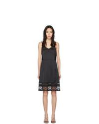 schwarzes Camisole-Kleid aus Satin von Marc Jacobs