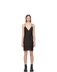 schwarzes Camisole-Kleid aus Satin von Rick Owens