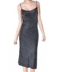 schwarzes Camisole-Kleid aus Seide