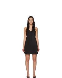 schwarzes Camisole-Kleid aus Seide von Fleur Du Mal