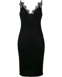schwarzes Camisole-Kleid aus Spitze von Givenchy