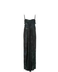 schwarzes Mit Batikmuster Camisole-Kleid von Hansine
