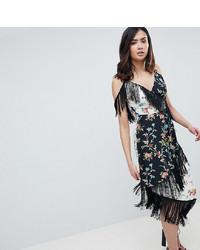 schwarzes Camisole-Kleid mit Blumenmuster von Asos Tall