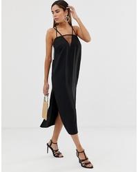 schwarzes Camisole-Kleid von ASOS DESIGN