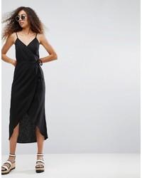 schwarzes Camisole-Kleid von Asos