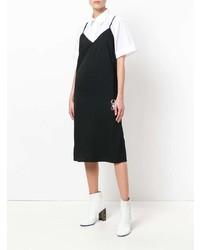 schwarzes Camisole-Kleid von MM6 MAISON MARGIELA