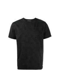 schwarzes Camouflage T-Shirt mit einem Rundhalsausschnitt von Valentino
