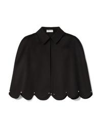 schwarzes Cape-Blazer von Valentino