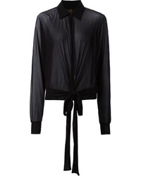 schwarzes Chiffon Businesshemd von Jean Paul Gaultier