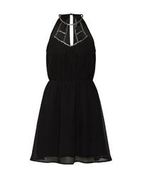 schwarzes Chiffon Cocktailkleid von Even&Odd
