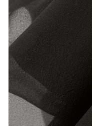 schwarzes Chiffon Cocktailkleid von Diane von Furstenberg