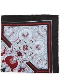 schwarzes Einstecktuch mit Paisley-Muster
