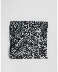schwarzes Einstecktuch mit Paisley-Muster von Asos