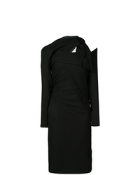 schwarzes Etuikleid von Versace