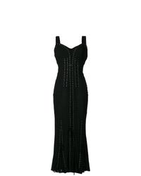 schwarzes Ballkleid mit Falten von Dolce & Gabbana